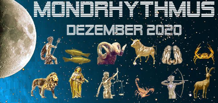 Der Mondkalender Dezember 2020 von New Age Lifestyle