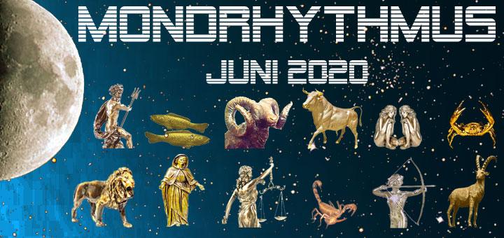 Der Mondkalender Juni 2020 von New Age Lifestyle