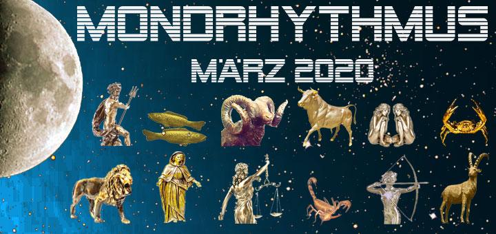Der Mondkalender März 2020 von New Age Lifestyle